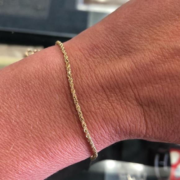 Jewelry - 10k Yellow Gold Rope Chain Bracelet
